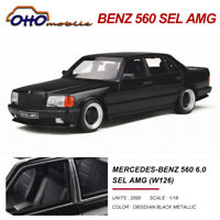 OTTO 1:18 Mercedes Benz 560 6.0 SEL AMG (W126) Black Resin Car Model Limited