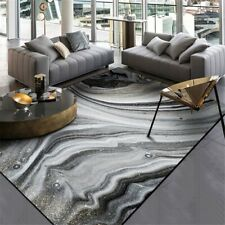 Modern Nordic Dark Grey Rock Area Rug Sea Water Art Carpet Rugs Floor Mat Marble