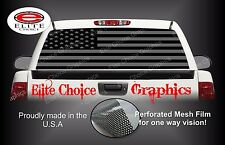American Flag Black and Grey Rear Window Graphic Decal Sticker Truck Van Car SUV