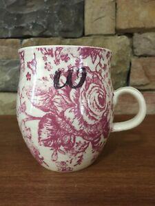 "Anthropologie~Homegrown~4¼"" Coffee Mug~Initial W~Purple"