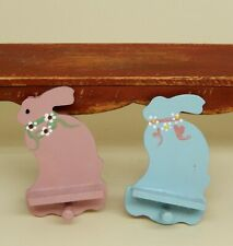 Vintage Nursery Boy & Girl Bunny Wall Shelves Artisan Dollhouse Miniature 1:12