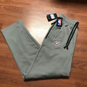 NIKE LOS ANGELES LAKERS NBA AUTHENTIC DRY SWEATPANTS TEAM ISSUED GREY MENS