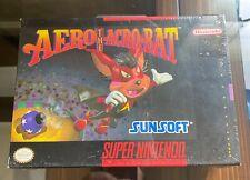 Aero the Acro-Bat Super NES Nintendo SNES Factory Sealed Sunsoft - Japan 1993
