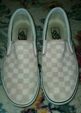 Vans Pink Slip On Sneaker Girls/youth  Size 5.5 womens size 7