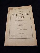 Revue militaire Suisse N°10 Octobre 1912