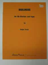 Ralph Turek Dialogue for B Flat Clarinet and Tape Shawnee Press Sheet Music
