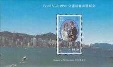 HONG KONG:  1989 Royal Visit  Miniature Sheet SGMS630  MNH