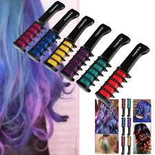 6 Farben Haarkreide Haarfarb Haar Kreide Kurz Haartönung Hair Chalks Haarkamm DE