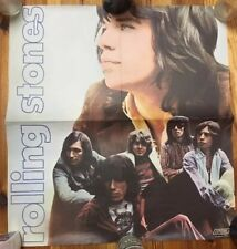 THE ROLLING STONES * ORIGINAL VINTAGE EARLY 1970'S MUSIC PERSONALITY ROCK POSTER