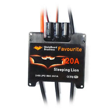 FVT Sleeping Lion 120A 2-6S Skateboard ESC SBEC Sensored/Sensorless USA