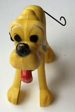 Vintage Wdp Wind Up Plastic Pluto Dog Figure Disney toy Works Great!