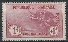 "FRANCE STAMP TIMBRE 154 "" ORPHELINS 1F+1F MARSEILLAISE "" NEUF xx LUXE  M234"