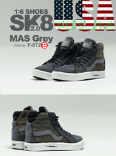"1/6 Vans SK8 Hi Skateboard Sneakers B For 12"" Hot Toys PHICEN Male Figure❶USA❶"