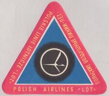 "POLAND ""LOT"" POLISH AIRLINES LUGGAGE LABEL ~ RED #2"