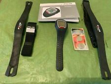 Heart Rate Monitor Polar RS100 + 2 transmitters USED + 3 replacement batteries