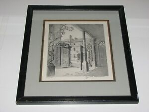 Vintage Elizabeth O'Neill Verner Charleston South Carolina Signed Framed Etching