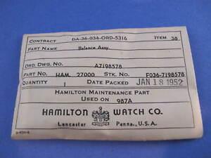 Hamilton 16s # 607041 staff balance #723