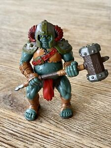 1990s ELC TROLL WITH HAMMER - TOWER OF DOOM DUNGEONS DRAGONS CASTLE - 8.5cm Tall