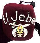 vintage Freemason Masonic Jeweled El Jebel Fez cap
