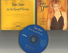 TAYLOR DAYNE Can't Get enough RARE USA PROMO Radio DJ CD Single BARRY WHITE TRK