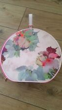 Ted Baker Round Multi Colour Floral Pattern Zipped Vanity Case