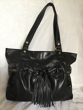 Large CELLINI Black Cowhide Leather Tote/Shoulder Bag / Handbag