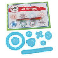 10 Stücke Spiral Art Set Zeichnung Spirograph Geometrische Lineal Schablone