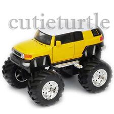 """Welly 4.75"""" Monster Truck Big Foot Toyota FJ Cruiser Diecast Car 47003-8D Yellow"""