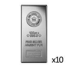 10 x 100 oz Silver Bar - Royal Canadian Mint