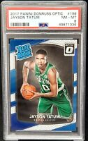 2017 Optic ROOKIE CARD Boston Celtics JAYSON TATUM RC Card PSA 8 NEAR MINT