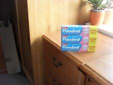 Fixodent Original Denture False Teeth Adhesive Paste 3 X 70G LONG DATE