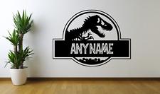 Create Your Own Jurassic Park World Boys Girls Names Wall Decal Art Sticker NA5
