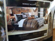 """Robert Allen Home Brayden Queen Comforter Shams 4 Curtains Window Panel 84"""" Set"""
