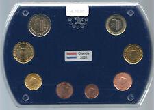 OLANDA 2001 SERIE COMPLETA 8 MONETE EURO IN EUROBOX FDC