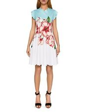 d2b54a37f9 NWT Ted Baker Maevea Nectar Scalloped Skater Dress Pale Green Size TB 1 US 4