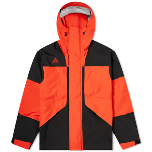 Nike ACG GORE-TEX Hooded Jacket Black Habanero Red CT2255-010 New Size Small