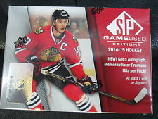 2014-15 UD SP GAME USED HOCKEY HOBBY SEALED BOX