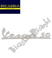 """1720 TARGHETTA CROMATA POSTERIORE """" VESPA 50 """" SPECIAL R L N - BICASBIA"""