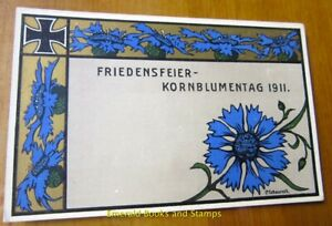 EBS Germany 1911 Picture Postcard - Kornblumentag - Cornflower Day (776)