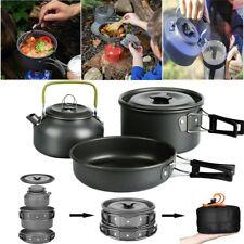 3 Person Kochset Campinggeschirr Topf Set Outdoor Camping Kochen Braten Geschirr