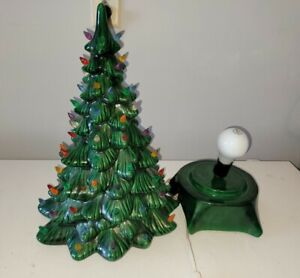 """Vintage Ceramic 2 pc. Christmas Tree 19""""  By Holland Mold"""