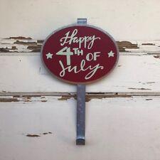 AG Designs Patriotic Decor - Happy 4th of July Door Wreath Hanger