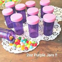 18 Purple JARS Plastic Container Pink Caps Lids  #4314  Doc McStuffins Party NEW