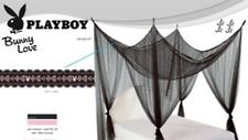 PLAYBOY Bunny Black Lace Mesh Bed Canopy Bedroom Home Decor RRP $75