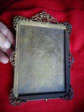 Ancien Cadre Porte Photo Portrait en Laiton finement Ciselé XIXe à Photographie