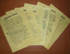 RITORNO AL FUTURO 3, LETTERA DI DOC DAL 1885 A MARTY NEL 1955 - FEDELE REPLICA