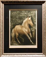 G.H Rothe Throughbred Original Mezzotint Etching Custom Framed COA Submit Offer!