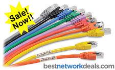 1 ELITE CAT5E ETHERNET NETWORK CABLE RJ45 (Patch Cord) - 7 FT (2.1m)