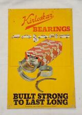 Vintage KIRLOSKAR BEARINGS Tin Advertising SignRare