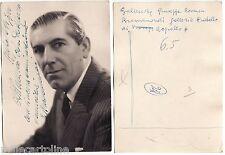 #RAPALLO: IL GALLERISTA GIUSEPPE BRANDUARDI- FOTO CON DEDICA 1960